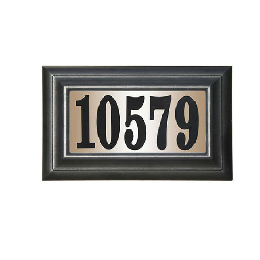 "View a Larger Image of Edgewood Classic ""Do it yourself kit"" Polymer Frame Lighted Address Plaque"