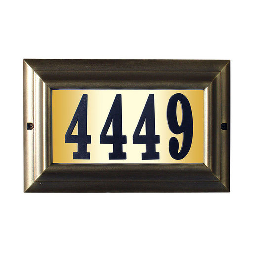 """View a Larger Image of Edgewood Large """"Do it yourself kit"""" Lighted Address Plaque in French Bronze Frame Color"""