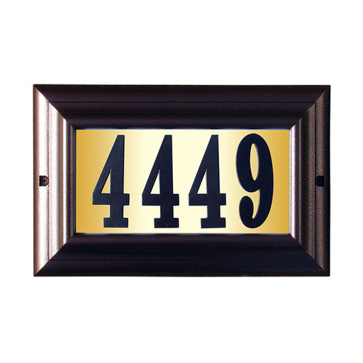 """View a Larger Image of Edgewood Large """"Do it yourself kit"""" Lighted Address Plaque with LED LIGHTS in Antique Copper Frame Color"""