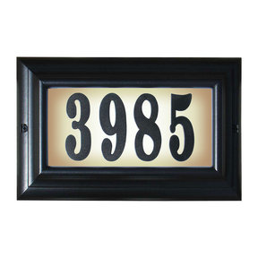 "Edgewood Large ""Do it yourself kit"" Lighted Address Plaque with LED LIGHTS in Black Frame Color"