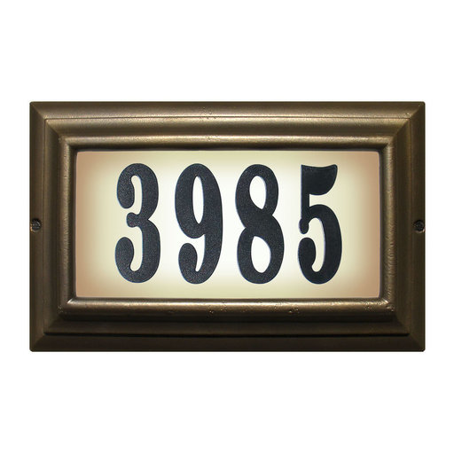 """View a Larger Image of Edgewood Large """"Do it yourself kit"""" Lighted Address Plaque with LED LIGHTS in Oil Rub Bronze Frame Color"""