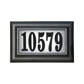 Edgewood Standard Lighted Address Plaque in Black Frame Color