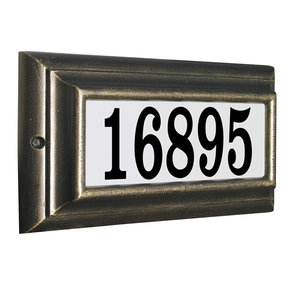 Edgewood Standard Lighted Address Plaque in French Bronze Frame Color