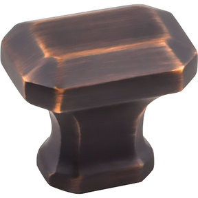 "Ella Knob, 1-1/4"" O.L., Brushed Oil Rubbed Bronze"
