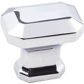"Ella Knob, 1-1/4"" O.L., Polished Chrome"