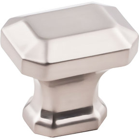 "Ella Knob, 1-1/4"" O.L., Satin Nickel"