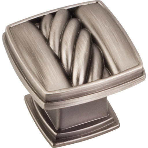 "View a Larger Image of Encada Rope Knob, 1-3/16"" O.L.,, Brushed Pewter"