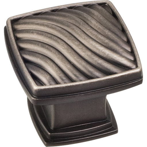 "View a Larger Image of Encada Wave Knob, 1-3/16"" O.L.,, Brushed Pewter"