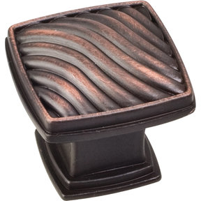 "Encada Wave Knob, 1-3/16"" O.L.,, Brushed Oil Rubbed Bronze"