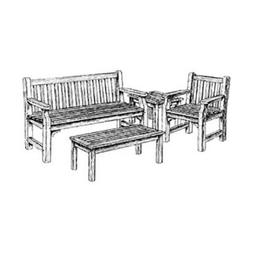 View a Larger Image of English Garden Furniture Woodworking Plan