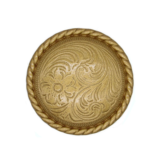 View a Larger Image of Engraved Flower Knob, Lux Gold