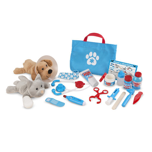 "View a Larger Image of Examine & Treat Pet Vet Play Set, Animal & People Play Sets, Helps Children Develop Empathy, 24 Pieces, 10.5"" H x 13.5"""