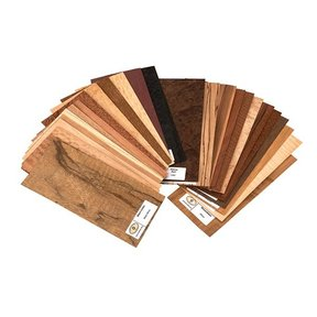 "Exotic Species 4"" x 9"" 25 pc Wood Identification Kit & Wood Veneer Sample Pack"