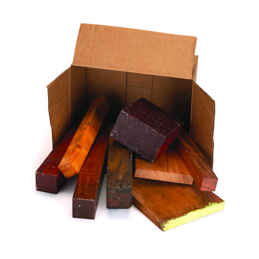 View a Larger Image of Exotic Wood Cut-Offs 10-Pound Box