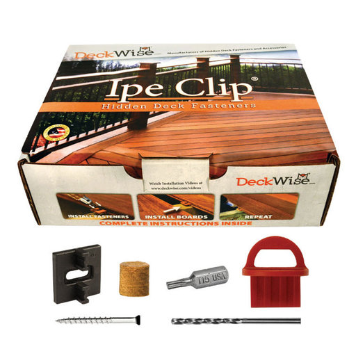 View a Larger Image of Extreme4 Ipe Clip Hidden Deck Fastener Kit, (525 pc), Black