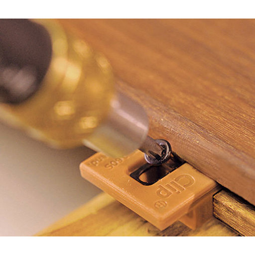 View a Larger Image of ExtremeKD Ipe Clip Hidden Deck Fastener Kit, (525 pcs), Brown