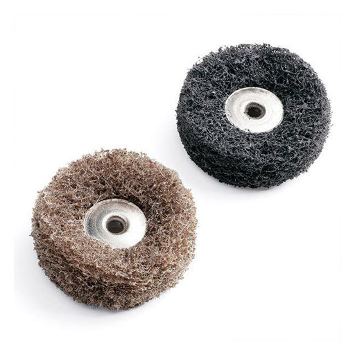 View a Larger Image of EZ Lock Abrasive Buff Wheels, 180 Grit and 280 Grit
