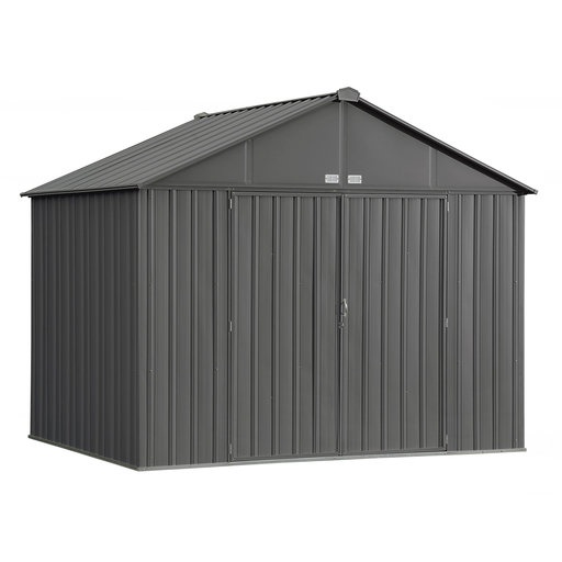 View a Larger Image of EZEE Shed, 10x8, Extra High Gable, 72 in walls, Charcoal Gray