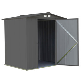 EZEE Shed, 6x5, Low Gable, 65 in walls, Charcoal Gray
