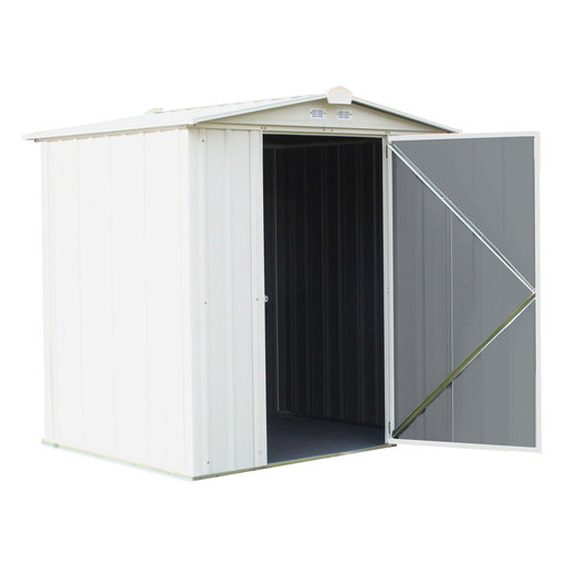 View a Larger Image of EZEE Shed, 6x5, Low Gable, 65 in walls, Cream