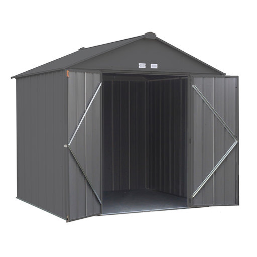 View a Larger Image of EZEE Shed, 8x7, High Gable, 72 in walls, Charcoal Gray