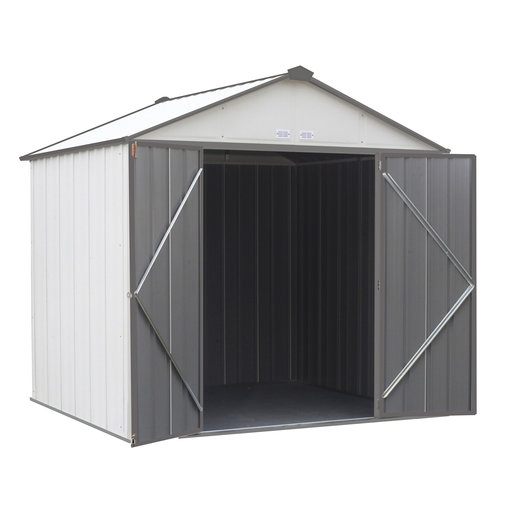 View a Larger Image of EZEE Shed, 8x7, High Gable, 72 in walls, Cream and Charcoal