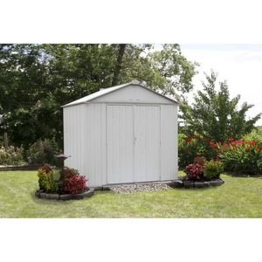 View a Larger Image of EZEE Shed, 8x7, High Gable, 72 in walls, Cream