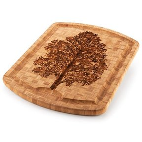 Family Tree Carver Cutting Board 19.5in x 15.75in x 1in