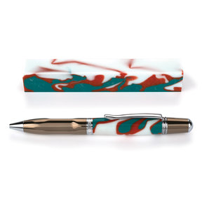 Fan Favorite Acrylic Pen Blank Aqua, Coral & White