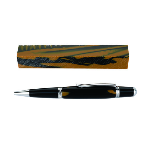 View a Larger Image of Fan Favorite Acrylic Pen Blank Black & Old Gold