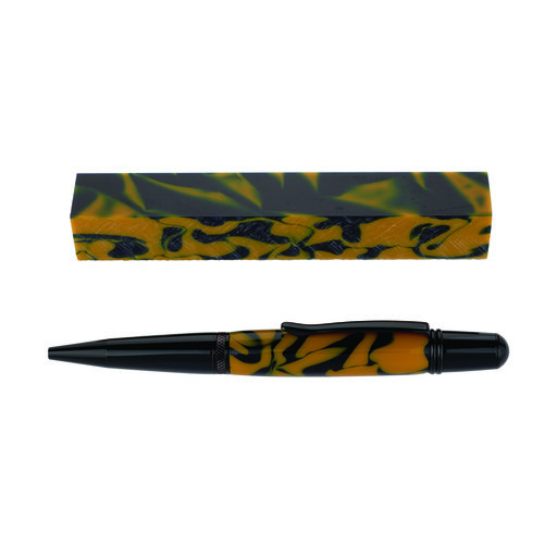 View a Larger Image of Fan Favorite Acrylic Pen Blank Blue & Gold