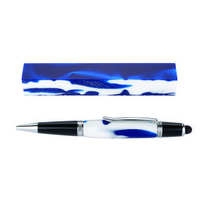 Fan Favorite Acrylic Pen Blank Blue & White