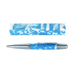 Fan Favorite Acrylic Pen Blank Carolina Blue & White