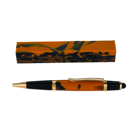 View a Larger Image of Fan Favorite Acrylic Pen Blank Gold, Navy Blue, Metallic Gold & Black