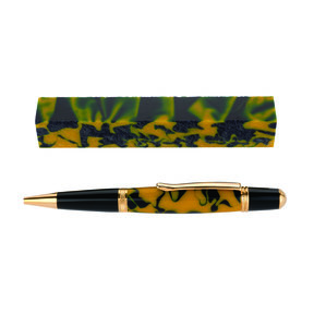 Fan Favorite Acrylic Pen Blank Maize & Blue