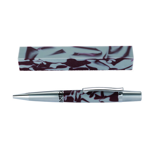 View a Larger Image of Fan Favorite Acrylic Pen Blank Maroon & Cool Gray
