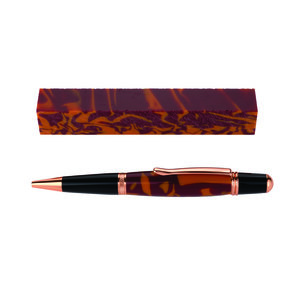 Fan Favorite Acrylic Pen Blank Maroon & Orange