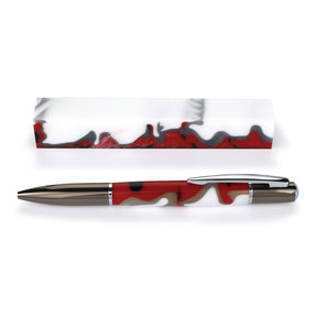 Fan Favorite Acrylic Pen Blank Nautical Blue, Red, Silver & White