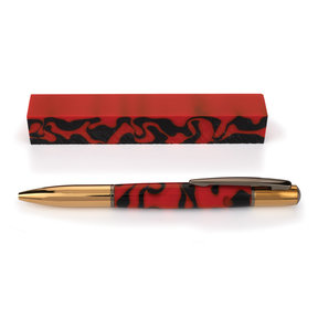 Fan Favorite Acrylic Pen Blank Orange & Black