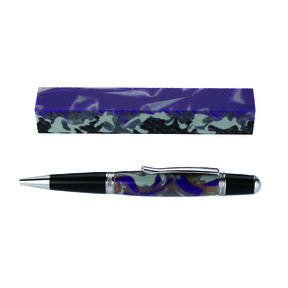 Fan Favorite Acrylic Pen Blank Purple, Gray, Light Gray & Black