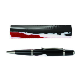 Fan Favorite Acrylic Pen Blank Red, Black & White