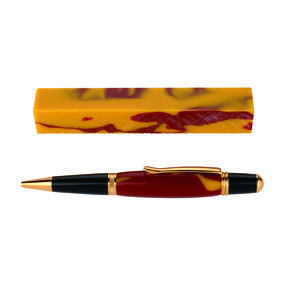 Fan Favorite Acrylic Pen Blank Red & Gold