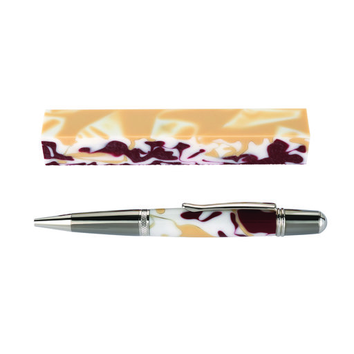 View a Larger Image of Fan Favorite Acrylic Pen Blank Red, White & Cream