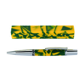 Fan Favorite Acrylic Pen Blank Yellow & Green