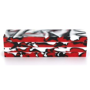 "Fan Favorite Acrylic Turning Stock Red, Black & White 1-1/2"" x 1-1/2"" x 6"""