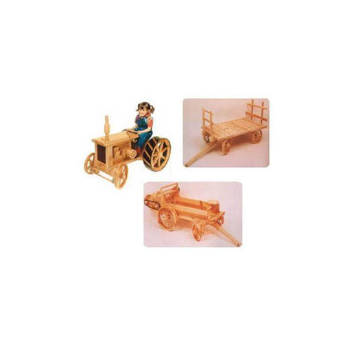 View a Larger Image of Farming Equipment Woodworking Plan