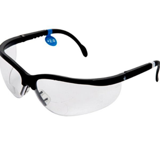 View a Larger Image of Magnifying Bifocal Safety Glasses 2.0 Diopter