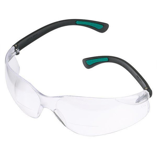 View a Larger Image of Magnifying Bifocal Safety Glasses 2.5 Diopter