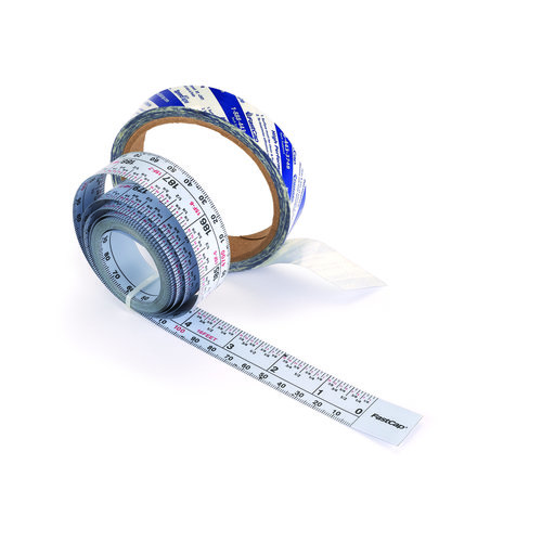 View a Larger Image of Self-Adhesive 16' Measuring Tape Reversible Left or Right Read, Metric and Standard