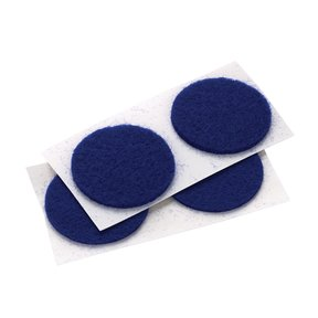 "Felt Dot, Self-Adhesive, Blue 1"" dia. 18-piece"